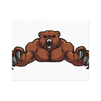 Angry Bear Canvas Prints