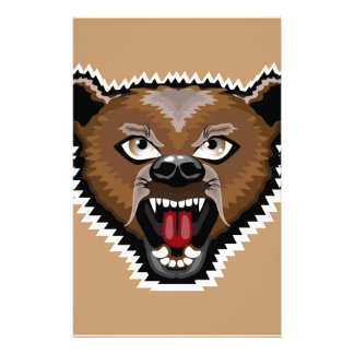 Angry Bear cartoon Personalised Stationery
