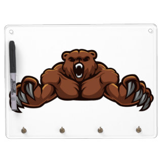Angry Bear Dry-Erase Whiteboards