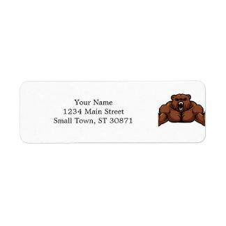 Angry Bear Return Address Label