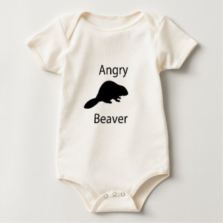 Angry beaver baby bodysuit