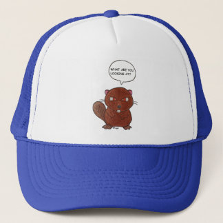 Angry Beaver Trucker Hat