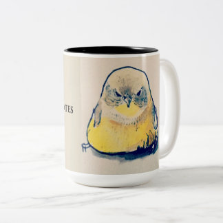 Angry bird before Coffee & Quotes Two-Tone Coffee Mug