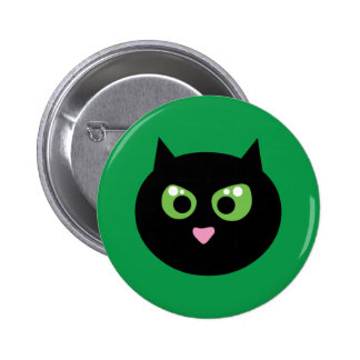 Angry Black Cat Pin