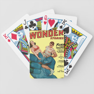 Angry Blue Giant and Teenagers Bicycle Playing Cards