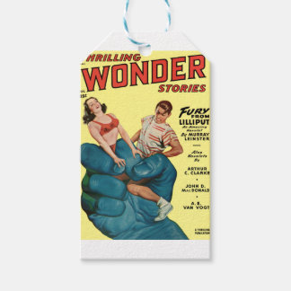Angry Blue Giant and Teenagers Gift Tags