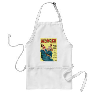 Angry Blue Giant and Teenagers Standard Apron
