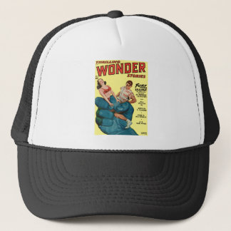 Angry Blue Giant and Teenagers Trucker Hat