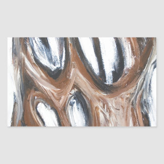 Angry Brown Horse animal expressionism Rectangle Sticker