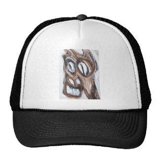 Angry Brown Horse animal expressionism Trucker Hat