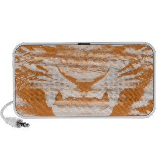 Angry Brown Tiger Horizontal Lines Laptop Speakers
