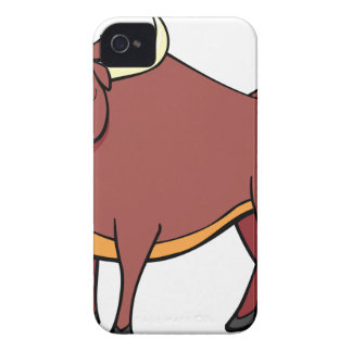 Angry Bull Cartoon iPhone 4 Cover