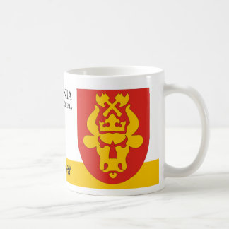 Angry Bull in Fire with Axes from Vohma Estonia Coffee Mug