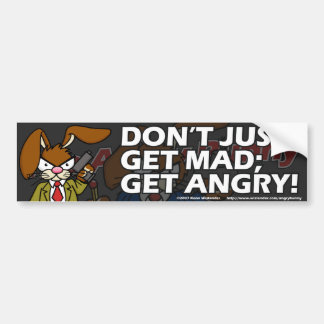 Angry Bunny Bumper Sticker 1