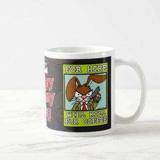 Angry Bunny - Kill for Coffee 1 Classic White Coffee Mug