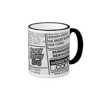 Angry Bunny - Kill for Coffee 2 Ringer Coffee Mug