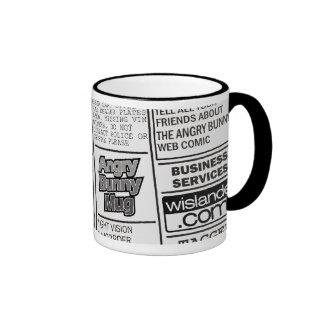 Angry Bunny - Kill for Coffee 2 Ringer Mug