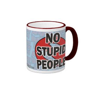 Angry Bunny No Stupid People Mug 1