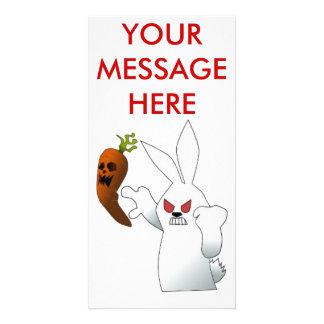 Angry Bunny Photo Card