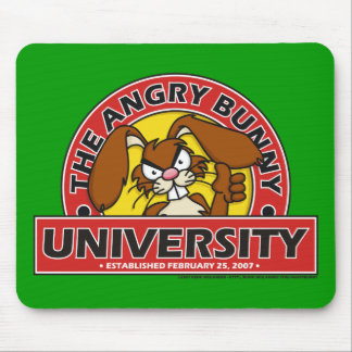 Angry Bunny University Mouse Pad