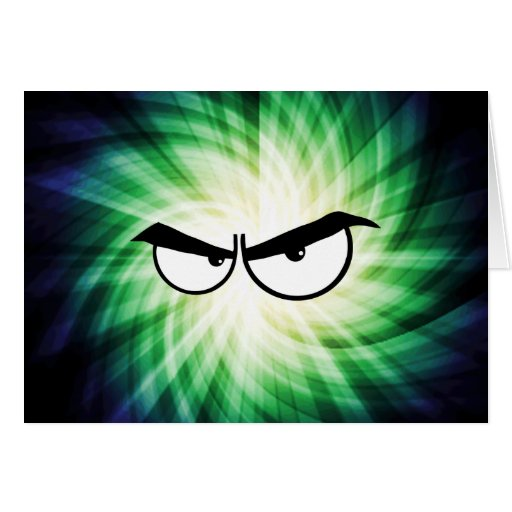 Angry Cartoon Eyes; Cool Cards