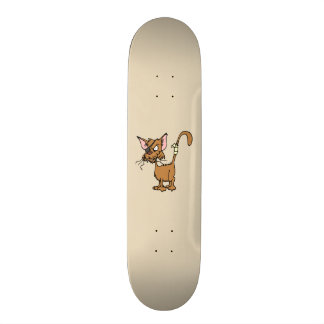 Angry Cat 20 Cm Skateboard Deck