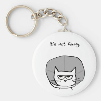 Angry Cat and the Cone of Shame Keychains