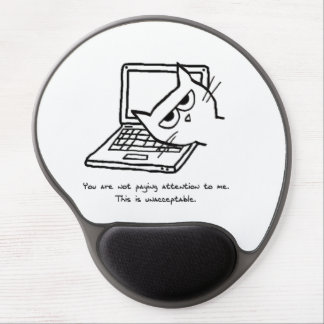 Angry Cat Demands Attention - Funny Cat Mousepad