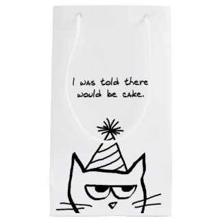 Angry Cat Demands Cake - Funny Cat Gift Bag