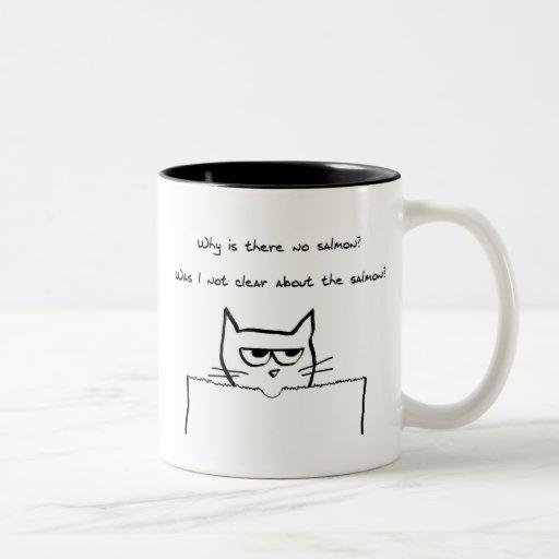 Angry Cat Demands Salmon Mugs