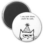 Angry Cat Hates Birthdays Fridge Magnet