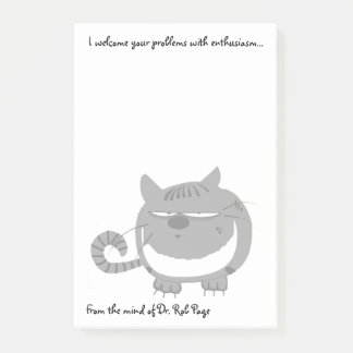 """Angry Cat """"I Welcome Your Problems"""" Funny Custom Post-it Notes"""