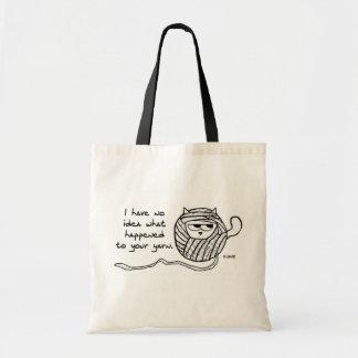 Angry Cat Likes Yarn Tote Bag