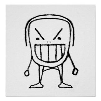 Angry Child Cartoon Poster