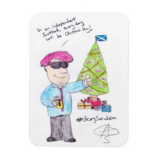 Angry Christmas Rectangular Photo Magnet