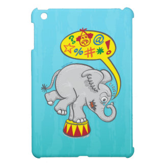 Angry circus elephant saying bad words iPad mini case