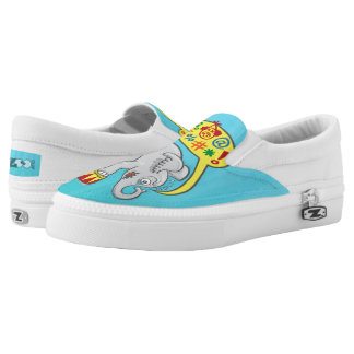 Angry circus elephant saying bad words Slip-On shoes
