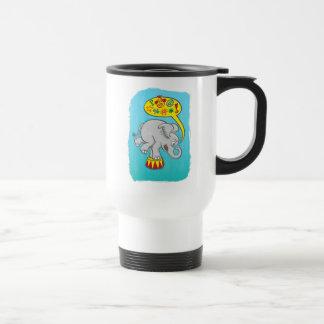 Angry circus elephant saying bad words travel mug