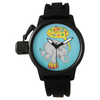 Angry circus elephant saying bad words watch