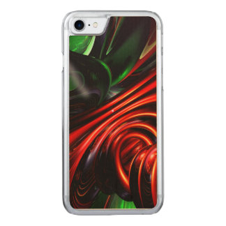 Angry Clown Abstract Carved iPhone 7 Case