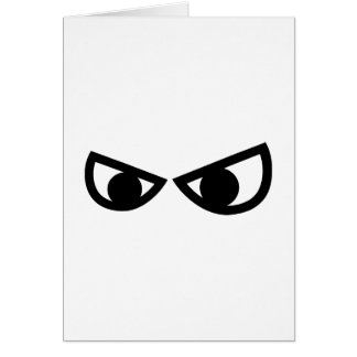 Angry comic eyes cards