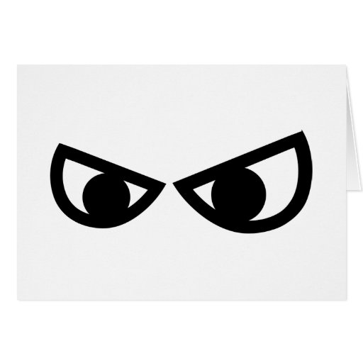 Angry comic eyes greeting cards