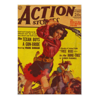 Angry Cowgirl Poster