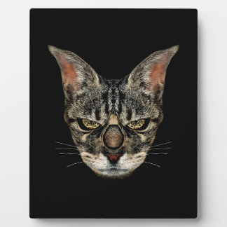 Angry Cyborg Cat Display Plaques