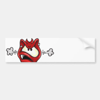 Angry devil bumper sticker