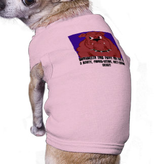 Angry dog, Underneath this puppy dog face is a ... Sleeveless Dog Shirt