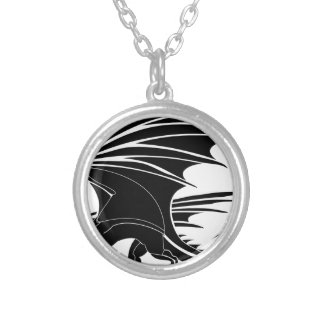 Angry Dragon Silver Plated Necklace