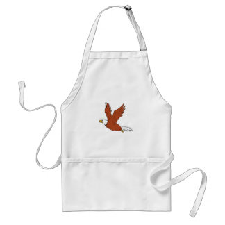 Angry Eagle Flying Cartoon Standard Apron