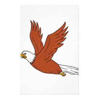 Angry Eagle Flying Cartoon Stationery