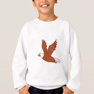 Angry Eagle Flying Cartoon Sweatshirt